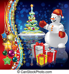 抽象的, 木, クリスマス, 背景