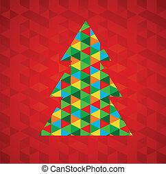 抽象的, 木, クリスマス, 背景, 赤