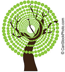 抽象的, 木