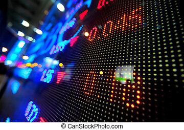 抽象的, 株価, 市場, ディスプレイ