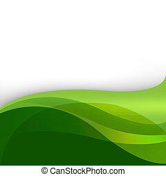抽象的, 緑の背景, 自然