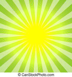 抽象的, 背景, 緑の黄色, (vector)