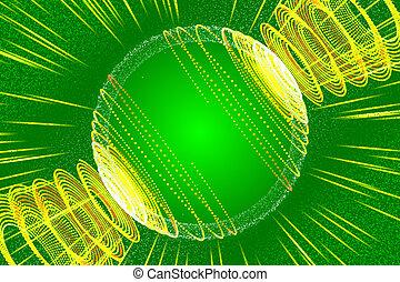 抽象的, 背景, 緑, 微片, 光線