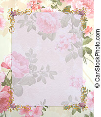 招待, 結婚式, ピンクのバラ