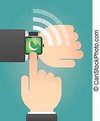 指すこと, 腕時計, 手の 印, 痛みなさい, イスラム教