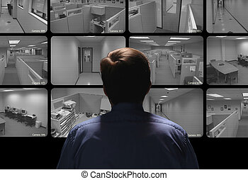 指揮する, 監視, 監視, 監視, セキュリティー, いくつか, モニター