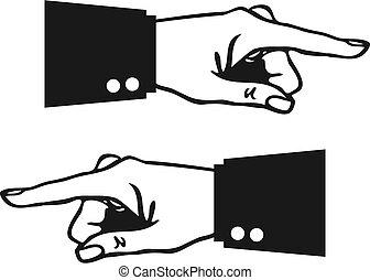 指, 手が指さす