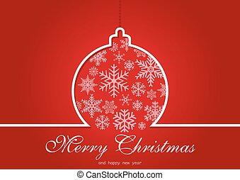 挨拶, クリスマスカード, 赤