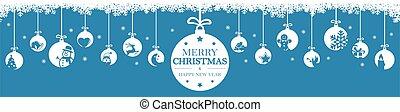 挨拶, クリスマス安っぽい飾り, アイコン, 掛かること