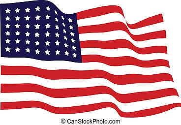 振ること, アメリカ人, ベクトル, 旗