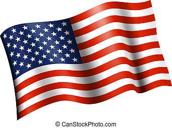 振ること, 平ら, アメリカの旗