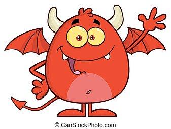 振ること, 悪魔, 特徴, 赤, 幸せ