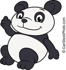 振ること, 2, パンダ, 手