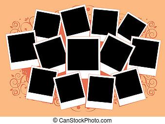 挿入, 映像, コラージュ, フレーム, photos., template., あなたの