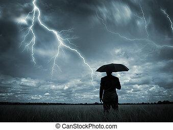 捕えられた, 嵐