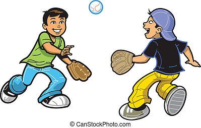 捕獲物, 男の子, 遊び