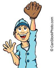 捕獲物, 男の子, 野球