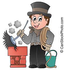 掃除人, 煙突, 幸せ