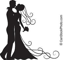 接吻, 花婿, 花嫁