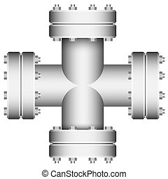 接続, crossings., element., pipe.