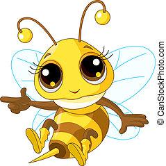 提示, かわいい, 蜂