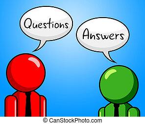 援助, 答え, 質問, ∥示す∥, 質問, 尋ねられた