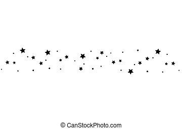 撃つ 星, 優雅である, 黒, 道, 白い背景