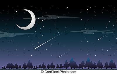 撃つ 星, 夜