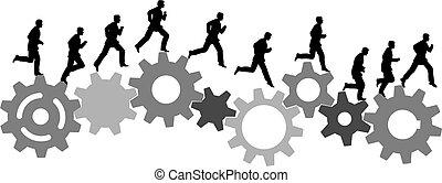 操業, 産業, 自営機器, ギヤ, 急ぎ, 人
