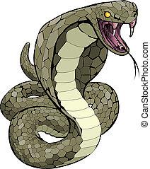 攻撃しなさい, コブラ, ヘビ, について, イラスト
