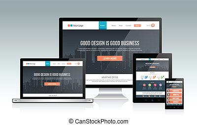 敏感, ウェブサイト, デザイン