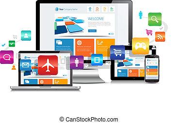 敏感, デザイン, apps