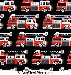 救出, 火, パターン, seamless, イラスト, トラック, 赤, 3d