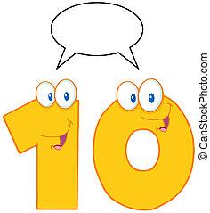 数, 特徴, 10, 黄色