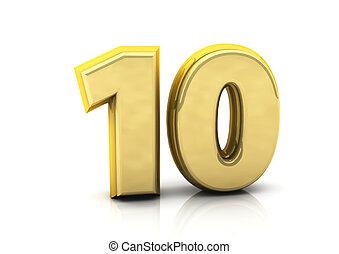 数, 10, 3d