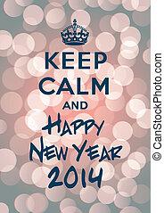 新しい, たくわえ, 冷静, 年, 2014, 幸せ