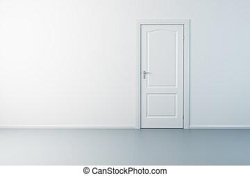 新しい, ドア, 部屋, 空