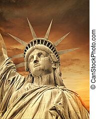 新しい, 像, ヨーク, 自由