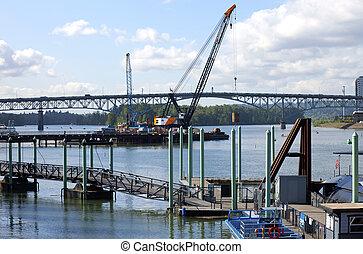 新しい, 建設, bridge.