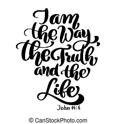 新しい, 真実, 聖書, 白, testament., 節, ベクトル, 隔離された, ジョン, キリスト教徒, 背景, 6., イラスト, 手, レタリング, 14, バックグラウンド。, 方法, 生活