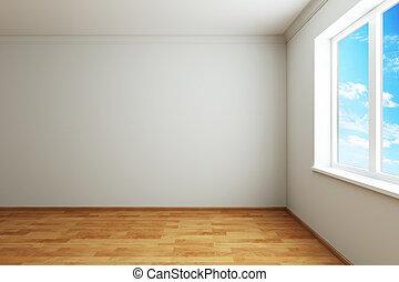 新しい, 窓, 部屋, 空