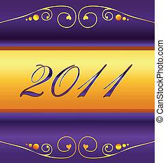 新しい, 2011, カード, 年