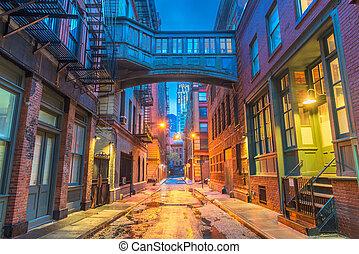 新しい, alleyways, ヨーク, 都市