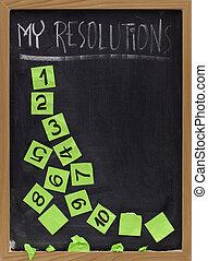 新しい, resolutions, 薄れていく, 年