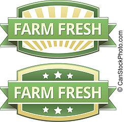 新たに農場で働きなさい, 食物, ラベル