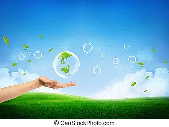 新たに, 概念, 緑地球, 新しい