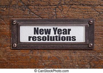 新年, resolutions