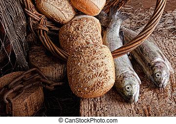 新鮮な魚, bread