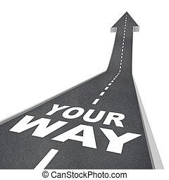 方向, 方法, 引っ越し, 矢, 前方へ, あなたの, 道