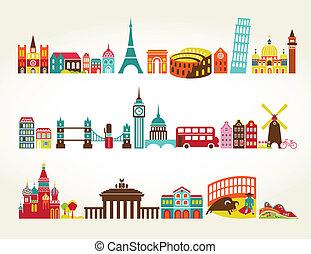 旅行観光, 場所